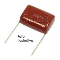5 Capacitor Poliester 2m2 - 2,2uf X 250v P/ Tweeter Filtros