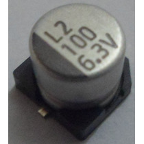 Capacitor Eletrolítico Smd 100uf 6,3v Emb. 10 Pçs. R$ 6,90