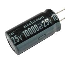 2 Peças * Capacitor Eletrolítico Radial 10000uf 25v 105°c