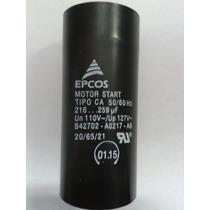 Capacitor Eletrolítico P/ Partida Motores 1/2 Hp 216/259uf