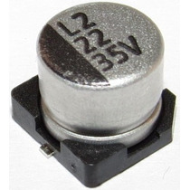 Capacitor Eletrolítico Smd 22uf 35v Emb. 10 Pçs. R$ 6,90
