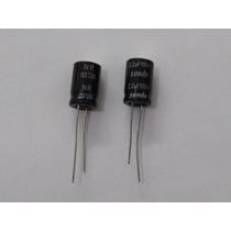Cap. Eletrolítico 2.2uf 100v Kit C/ 10 Pçs