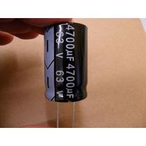 Capacitor Eletrolitico De 4700uf X 63v * 4.700uf * 4700 Uf