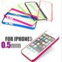 Capa Case Iphone 5/5s 0.5mm Coloriddas, + Película Ou Caneta