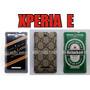 Capa Case Sony Xperia E C1604 C1605 Tematicas + Pelicula