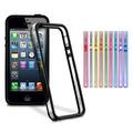 Case Bumper Novo Apple Iphone 5 4g 4s +película Frente/verso