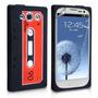 Capa Silicone Galaxy S3 Iii I9300 Fita Cassette K7 Pelicula