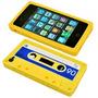 Capa Case Silicone Iphone 4g Fita Cassete Retrô Frete Grátis