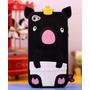 Capa Pig Iphone 4 4s Porquinho Rei Rosa Azul Rosa