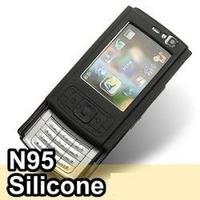 Capa Silicone Celular Nokia N95 Preta + Película Protetora