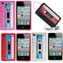 Capa Para Iphone 4/4s Fita K7 Cassete Retro +película Frente