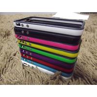 Capa Case Bumper Smarti Iphone 4 4s Cores Botão Metálico