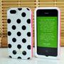 Capinha Case Iphone 5 5s - Bolinhas Preta Kate Spade