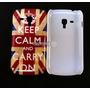 Capa Capinha Retrô Inglaterra Keep Calm Galaxy S Duos S7562