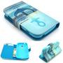 Capa Case Carteira Flip Âncora Galaxy S Duos S7562 S7560