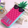 Capa Case Capinha Iphone 5/5s/5c Abacaxi Pink Frete R$ 9,99