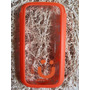 Capa Case Celular S3 Transparente Mob Laranja
