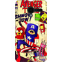 Capa Celular Moto X - A Hora Da Aventura - Avengers Time