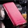 Capa Case Celular Iphone 6 Couro Flip Luxo Pink Importada