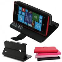 Capa Carteira Couro Nokia Lumia 520 N520 + Película De Vidro