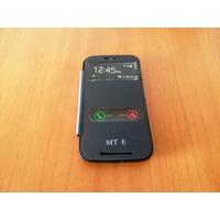 Capa Carteira Celular Moto E Preta Flip Cover