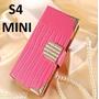 Capinha Rosa Luxo/cristais Capa Case Galaxy S4 Mini / Duos