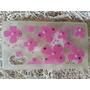 Capa Case Celular Lg L20 Silicone Strass Perolas Flores Rosa