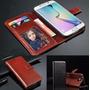 Capa Couro Carteira Samsung Galaxy S6 Marrom Porta Retrato