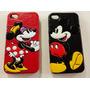 Capa Couro Disney Mickey Minnie Iphone 4 4s