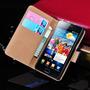 Capa Carteira De Couro Legítimo Para Samsung Galaxy S2 I9100