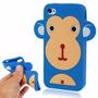 Capa Para Iphone 4/4s De Silicone 3d Macaco Promoção!!!