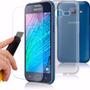 Capa Tpu Samsung Galaxy J1 J100 Ace + Vidro Temperado
