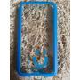 Capa Case Celular S5 Transparente Azul Mob