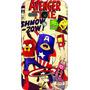 Capa Celular Moto G G2 - A Hora Da Aventura - Avengers Time