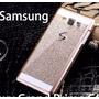 Capa Case Samsung A7 A7000 Dourada Glitter Luxo Brilho