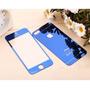 Película Vidro Iphone 6 Frente Verso Azul Espelhada Temperad
