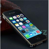 Capa Case Metal Bumper Alumínio Iphone 4 4s + Película Vidro