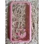 Capa Case Celular S5 Transparente Rosa Mob