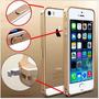 Case Capa Capinha Bumper Metal Dourado P Iphone 5 Iphone 5s