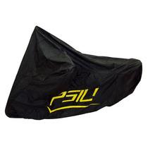 Capa Protetora Para Moto Psiu Pvc Preta Forrada Com Feltro