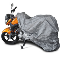 Capa Moto Grande Impermeável Lona Encerado Sol Chuva Elastic