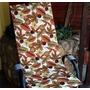 Assento Cadeira Varanda Marrom 100% Poliéster, 1.20m X 0.50m