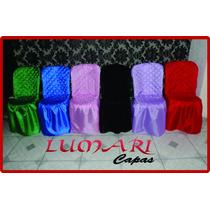Capa De Cadeira Colorida Em Matelasse De Bember
