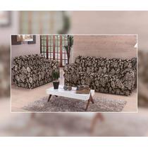 Capa De Sofá 3 E 2 Lugares Estampada Floral 21 Elásticos
