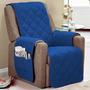 Protetor Para Poltrona Sofá 1 Lugar Em Microfibra Com Viés