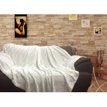 Manta 1,50x1,90 Decorativa P/ Sofá E Cama Pele Plush Hedrons