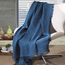 Manta Para Sofá Cama Dohler 1,20x1,50m 100% Algodão Azul