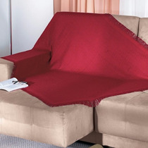 Manta Para Sofá Cama Dohler 1,20x1,50m 100% Algodão Vermelha