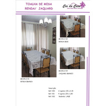 Toalha De Mesa Renda /jaquard 4 E 6 Lugares