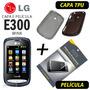 Capa Tpu + Película Protetora00 Lg E300 Wink + Frete Grátis
